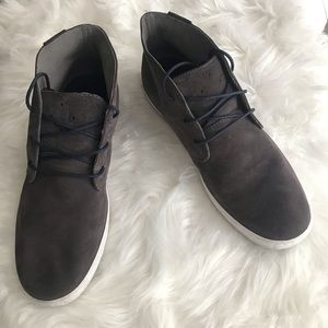 COLE HAAN Men's Gray Suede Leather Boots Size 10.5